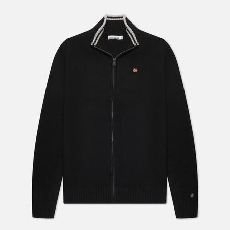 Мужской свитер Napapijri Dain Full Zip, цвет чёрный, размер S