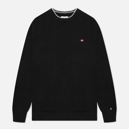 Мужской свитер Napapijri Dain Crew Neck, цвет чёрный, размер M