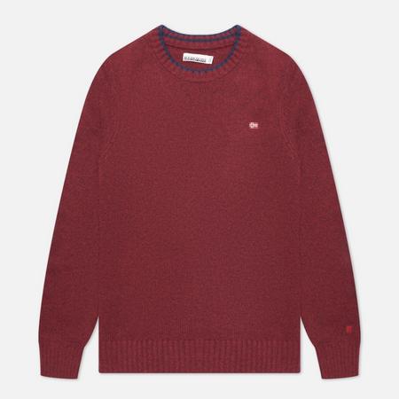 Мужской свитер Napapijri Dain Crew Neck, цвет бордовый, размер XL