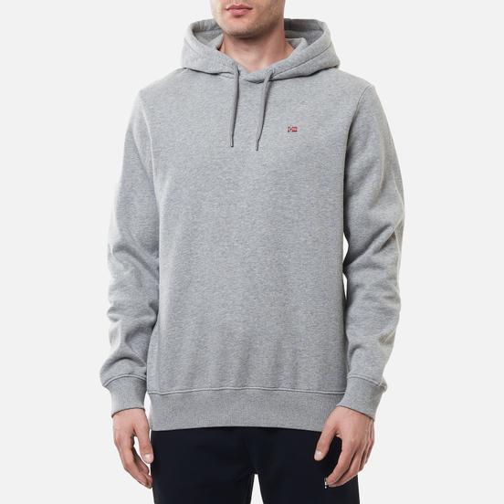 Мужская толстовка Napapijri Balis Hoodie Medium Grey Melange
