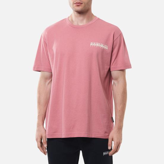 Мужская футболка Napapijri Saretine Pink Lulu