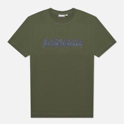 Мужская футболка Napapijri Serber Print Green Depths