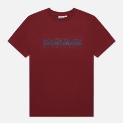 Мужская футболка Napapijri Serber Print Vint Amaranth