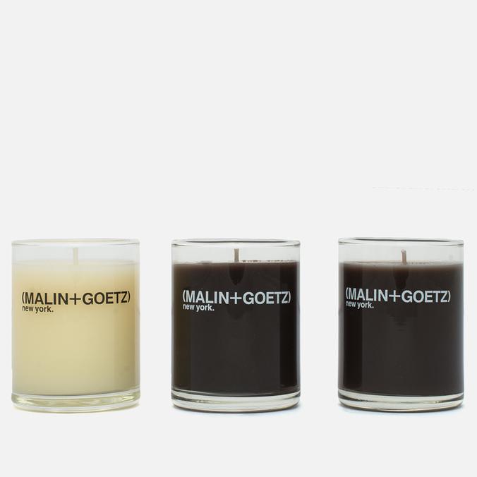 Набор ароматических свечей Malin+Goetz Dark Rum/Tobacco/Vetiver