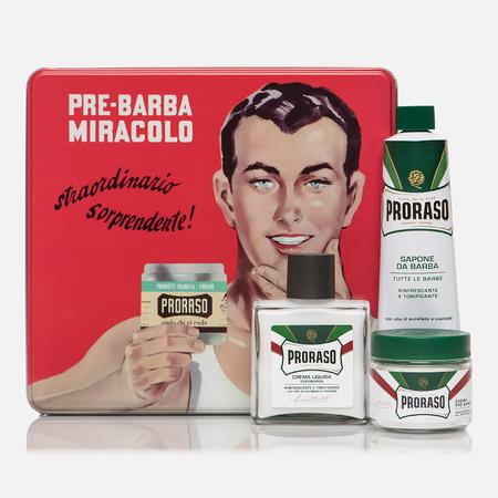 Набор для бритья Proraso Gino Vintage Selection Tin Green Range