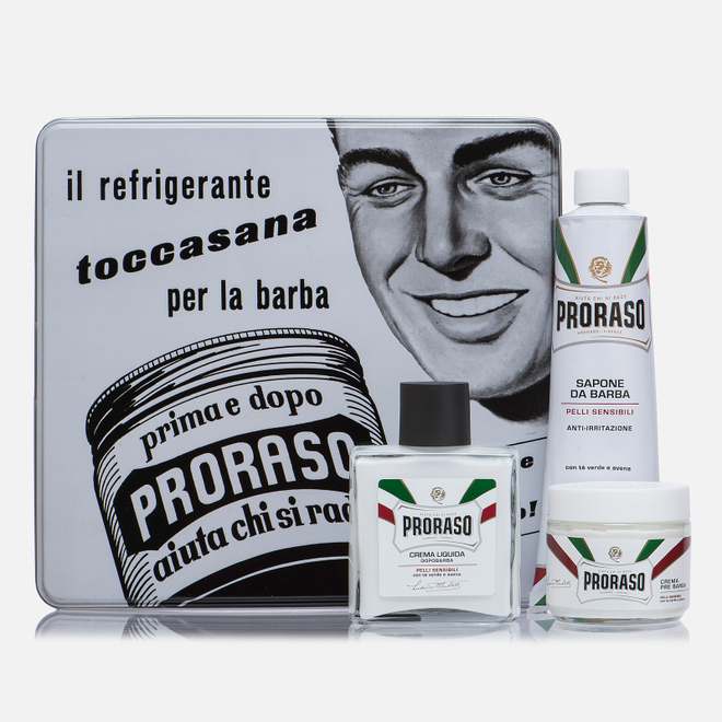 Набор для бритья Proraso Toccasana Vintage Selection Tin White Range