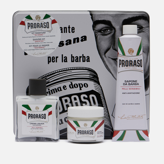 Набор для бритья Proraso Toccasana Vintage Selection Tin White Range