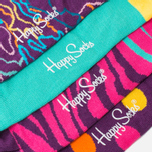 Комплект носков Happy Socks Pre Pack Electric Camo Black/Purple/Pink/Yellow фото- 2