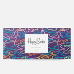 Комплект носков Happy Socks Pre Pack Electric Camo Black/Purple/Pink/Yellow фото- 3
