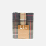 Barbour Tartan Cotton 3 pcs Handkerchiefs Set Multicolor photo- 0