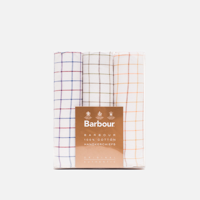 Barbour Tattersall Cotton 3 pcs Handkerchiefs Set Multicolor