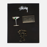 Набор значков Stussy HO16 Pin Set Assorted Colours фото- 0