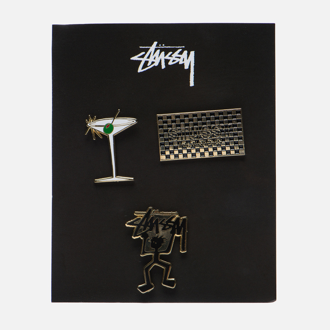 Набор значков Stussy HO16 Pin Set Assorted Colours