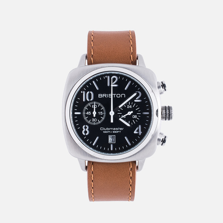 Briston Clubmaster Chrono Classic Watch Steel Black/Silver