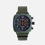Наручные часы Briston Clubmaster Chrono Green Army фото- 0