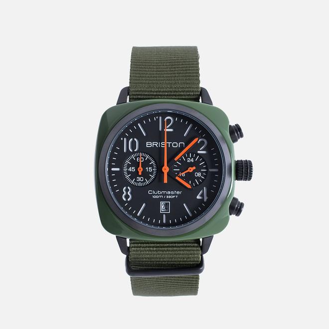 Наручные часы Briston Clubmaster Chrono Green Army