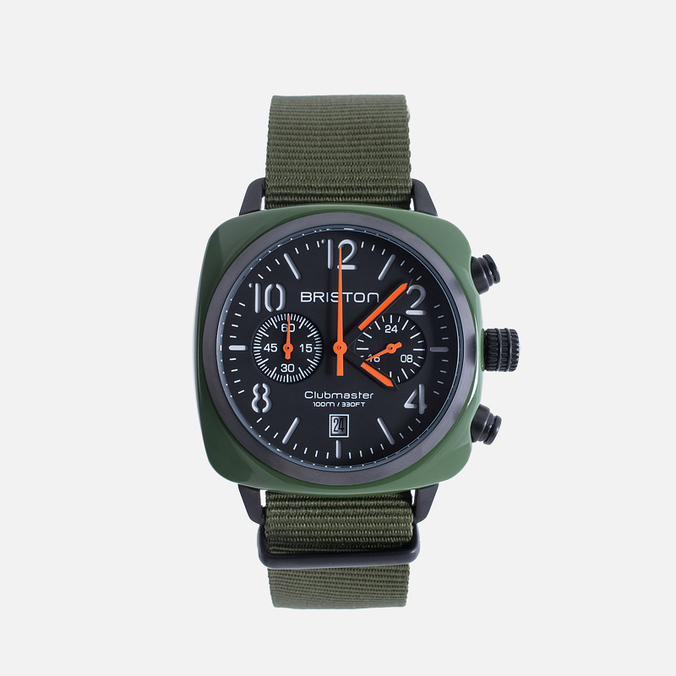 Наручные часы Briston Clubmaster Chrono Green Army