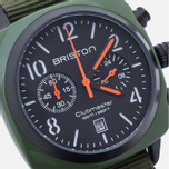 Наручные часы Briston Clubmaster Chrono Green Army фото- 2