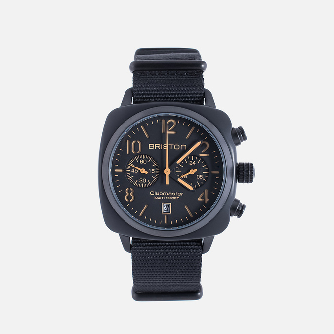 Briston Clubmaster Chrono Watch Matte Black