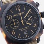 Briston Clubmaster Chrono Matte Watch Tortoise/Black/Khaki photo- 2