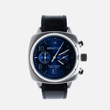 Briston Clubmaster Chrono Watch Navy Blue