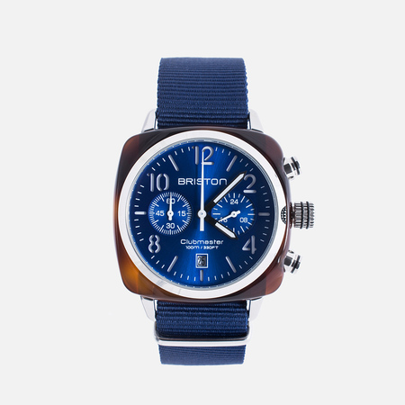 Briston Clubmaster Classic Acetate Watch Navy Blue