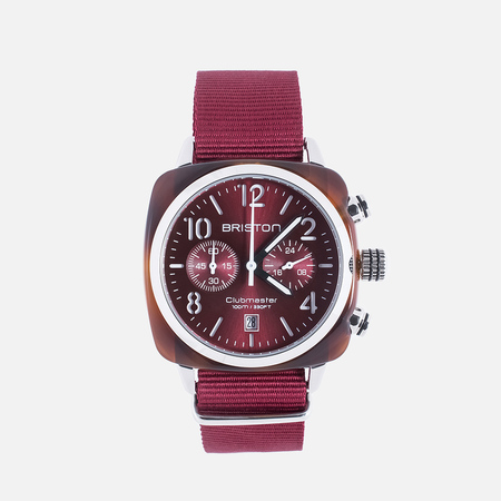 Briston Clubmaster HMS Watch Red Sunray
