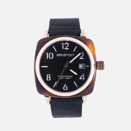 Briston Clubmaster HMS Tortoise Shell Watch Rose Gold