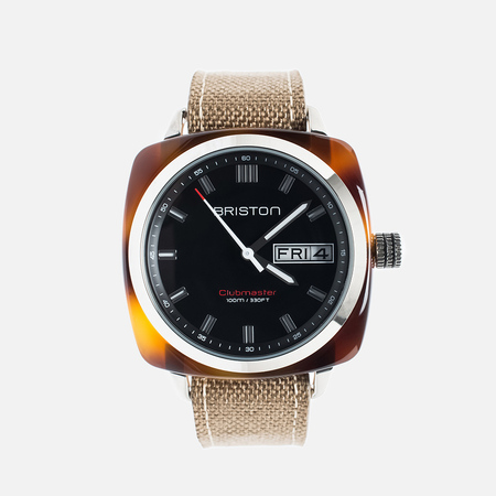 Briston Sport HMS Day-Date Watch Brown/Black