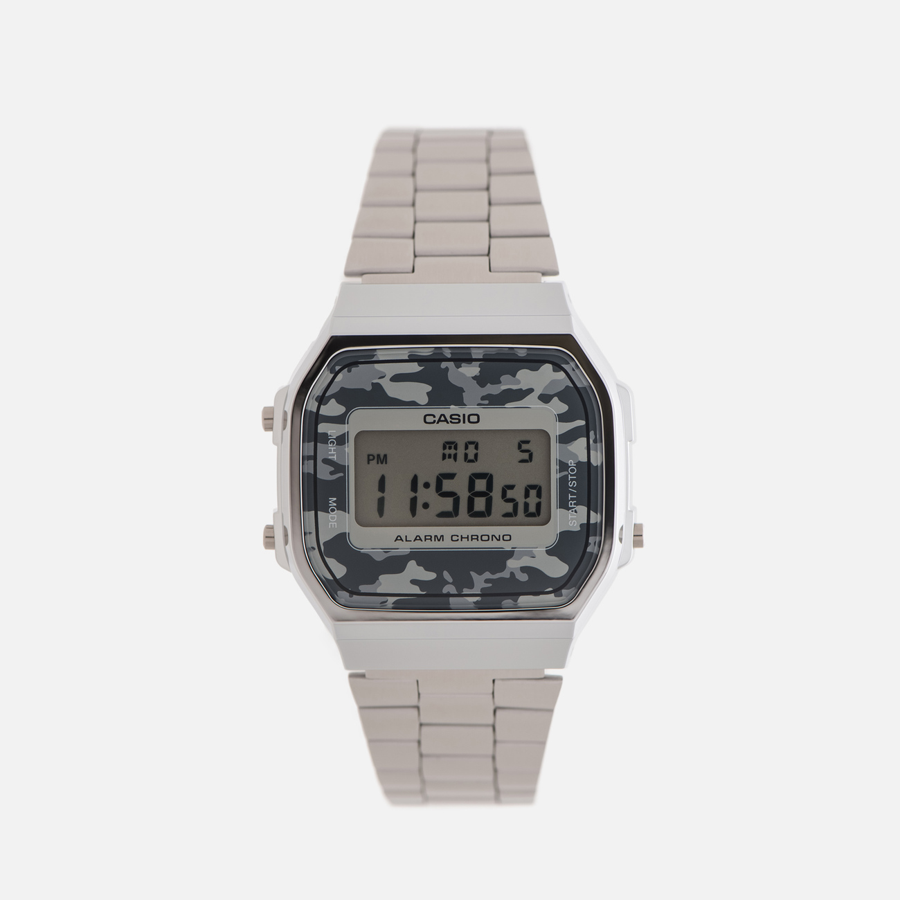 Наручные часы CASIO Collection A-168WEC-1E Silver/Grey Camo