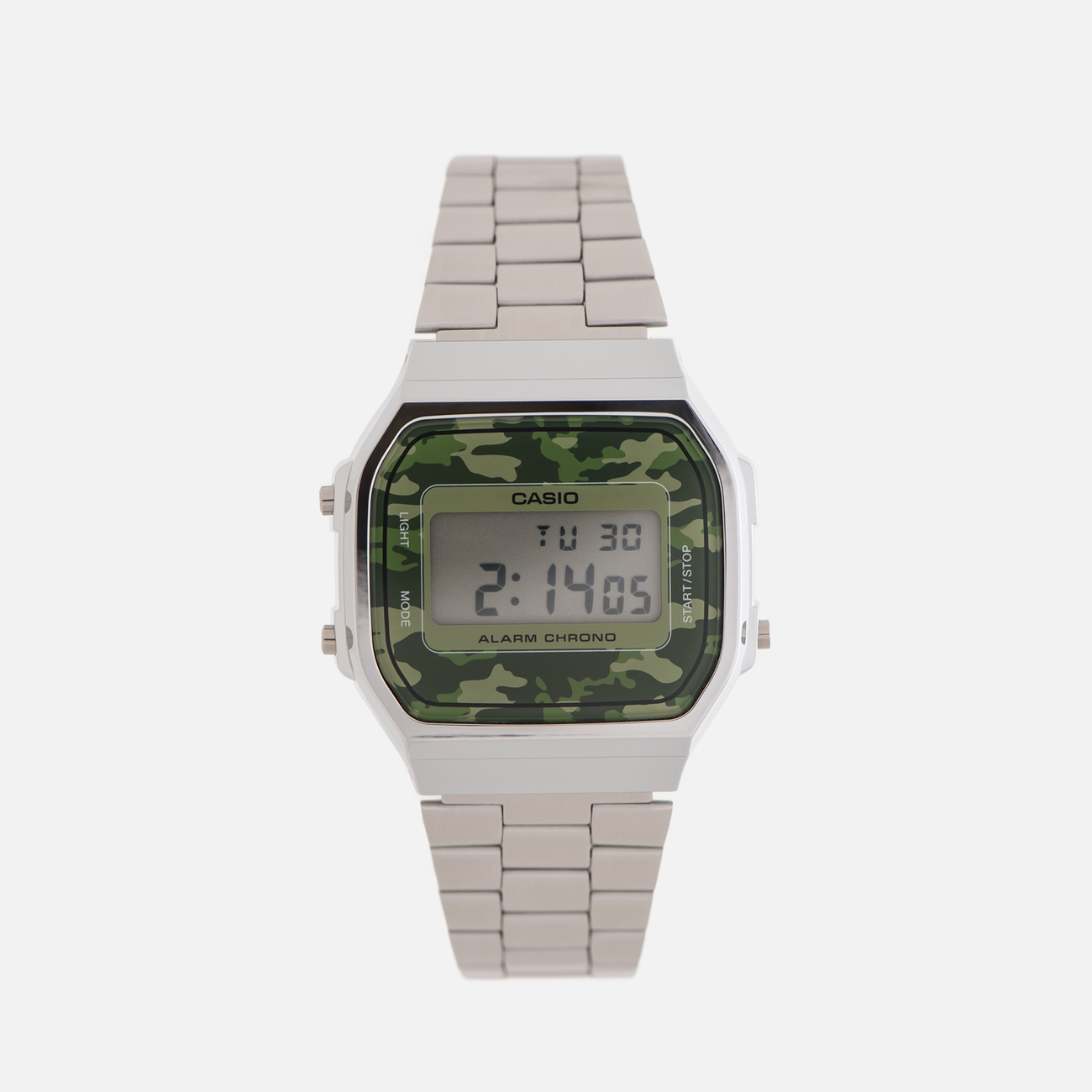 Наручные часы CASIO Collection A-168WEC-3E Silver/Green Camo