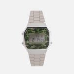 Наручные часы CASIO Collection A-168WEC-3E Silver/Green Camo фото- 0