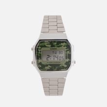 Наручные часы CASIO Collection A-168WEC-3E Silver/Green Camo фото- 0