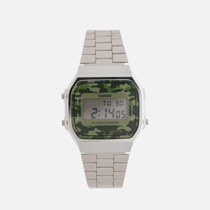 Наручные часы CASIO Collection A-168WEC-3E Silver/Green Camo