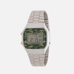 Наручные часы CASIO Collection A-168WEC-3E Silver/Green Camo фото- 1