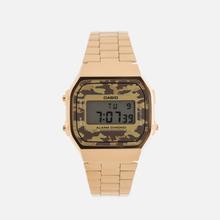 Наручные часы CASIO Collection A-168WEGC-5E Gold/Grey Camo фото- 0