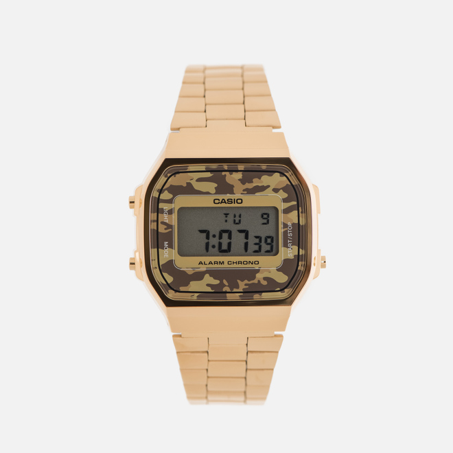 Наручные часы CASIO Collection A-168WEGC-5E Gold/Grey Camo