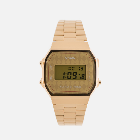 Наручные часы CASIO Collection A-168WG-9B Gold/Rhombus Yellow