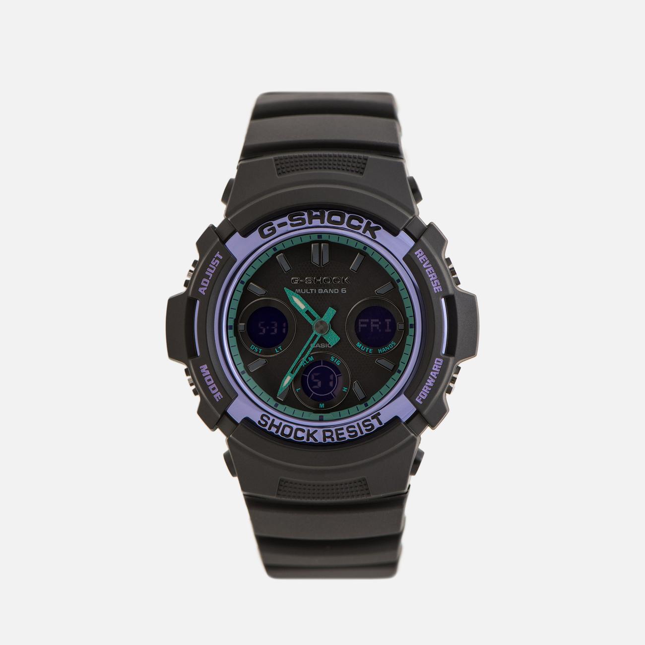 Наручные часы CASIO G-SHOCK AWG-M100SBL-1AER 90s Series Black/Purple/Green