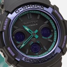 Наручные часы CASIO G-SHOCK AWG-M100SBL-1AER 90s Series Black/Purple/Green фото- 2
