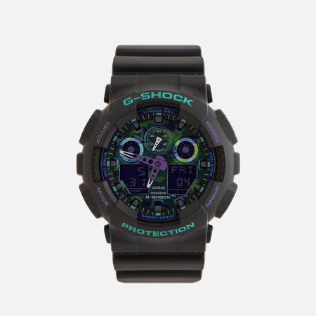 Наручные часы CASIO G-SHOCK GA-100BL-1AER 90s Series Black/Green/Purple