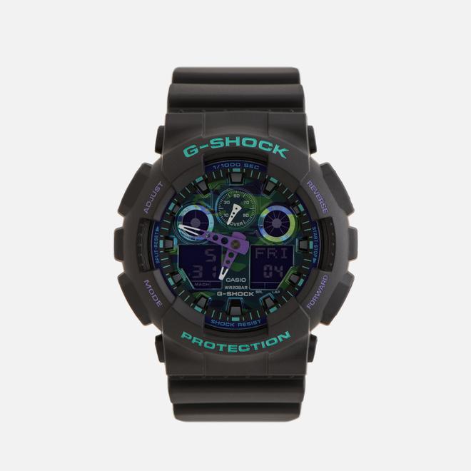 Наручные часы CASIO G-SHOCK GA-100BL-1AER 90s Series Black/Green/Purple
