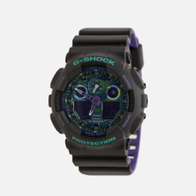 Наручные часы CASIO G-SHOCK GA-100BL-1AER 90s Series Black/Green/Purple фото- 1