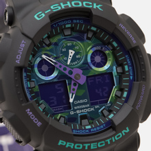 Наручные часы CASIO G-SHOCK GA-100BL-1AER 90s Series Black/Green/Purple фото- 2