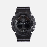 Наручные часы CASIO G-SHOCK GA-100CG-1A Cracked Ground Pattern Series Black фото- 0