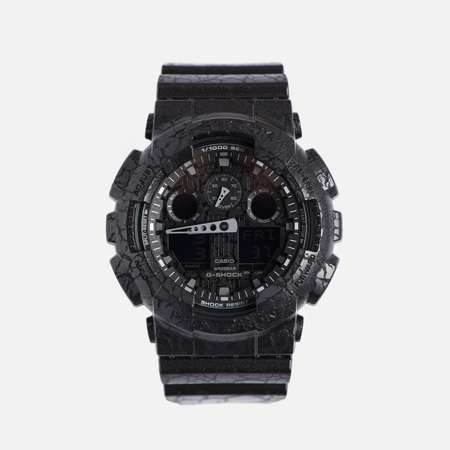 Наручные часы CASIO G-SHOCK GA-100CG-1A Cracked Ground Pattern Series Black