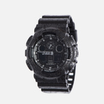 Наручные часы CASIO G-SHOCK GA-100CG-1A Cracked Ground Pattern Series Black фото- 1