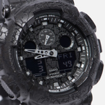 Наручные часы CASIO G-SHOCK GA-100CG-1A Cracked Ground Pattern Series Black фото- 2