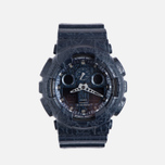 Наручные часы CASIO G-SHOCK GA-100CG-2A Cracked Ground Pattern Series Blue фото- 0
