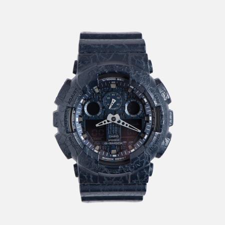 Наручные часы CASIO G-SHOCK GA-100CG-2A Cracked Ground Pattern Series Blue